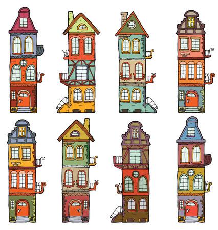 8 cartoon houses