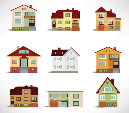 City houses Stock Vector - 22677330