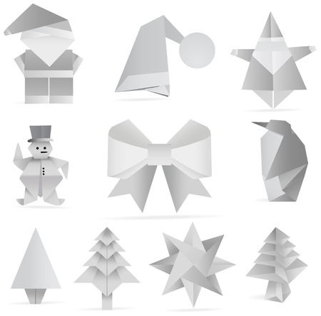 Christmas origami decoration Vector