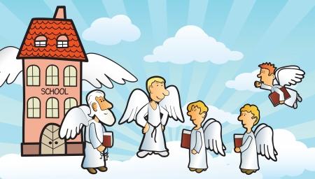 Anges école Banque d'images - 22785401