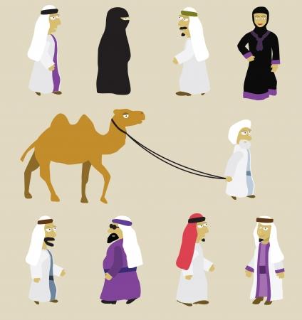 アラブ人  イラスト・ベクター素材