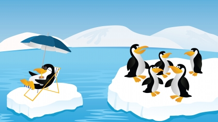 floe: Penguins Illustration
