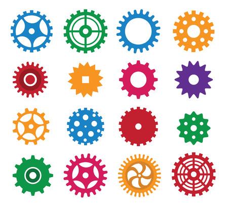 Simple vector gears Illustration