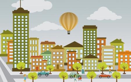 플랫 도시 생활