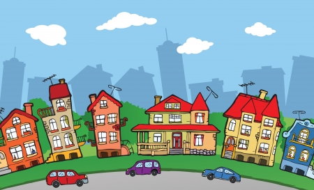 small town: Small city Illustration