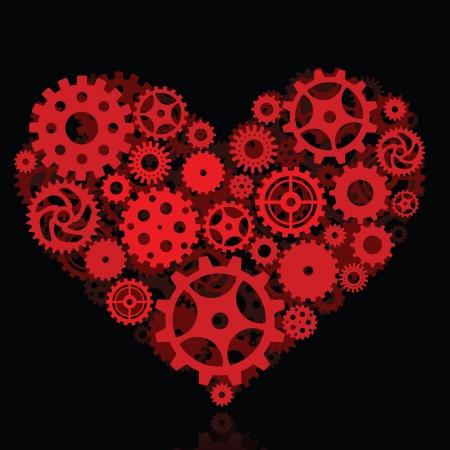Mechanical Heart Vetores