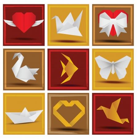 working animals: Origami animals   love symbols