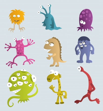 Funny creatures from another planets Vector