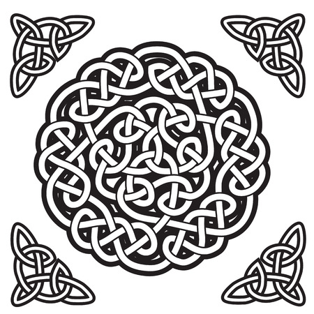 Celtic ornament  gordian knot  Vector