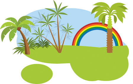 Tropical forest  jungle  Vector