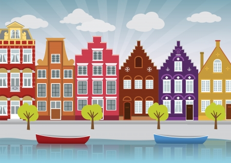 Old city illustration Vector