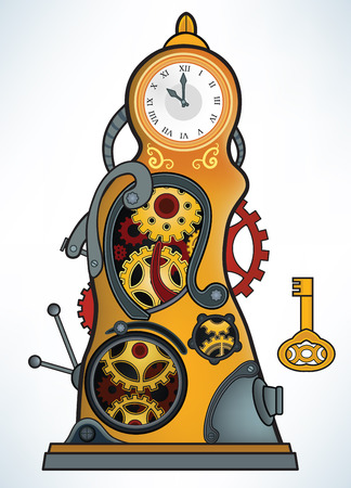 gold watch: Time machine Illustration
