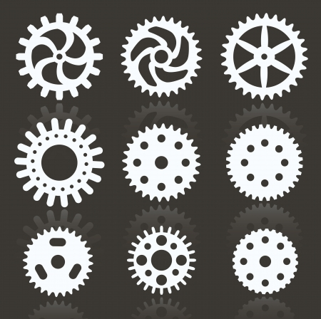 sprocket: Tooth wheels  black   white