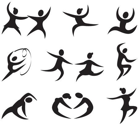 figuras abstractas: Iconos Danza