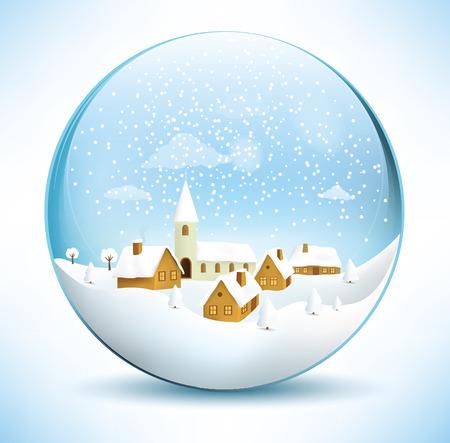 Christmas sphere - village