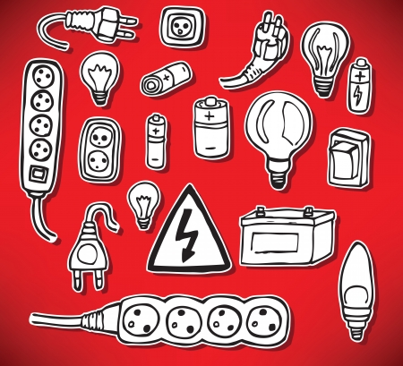 Energy and electric symbols Vector