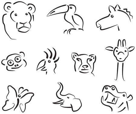 Animal icons set 3 Vector