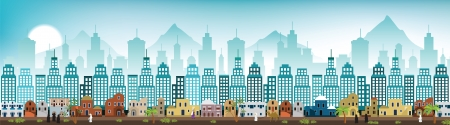 Cityscape Arabia  colors  Vector