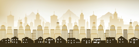 Cityscape in the evening Vector