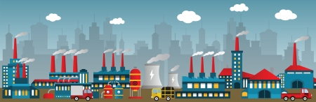 Factory in the city Stock Vector - 22973582