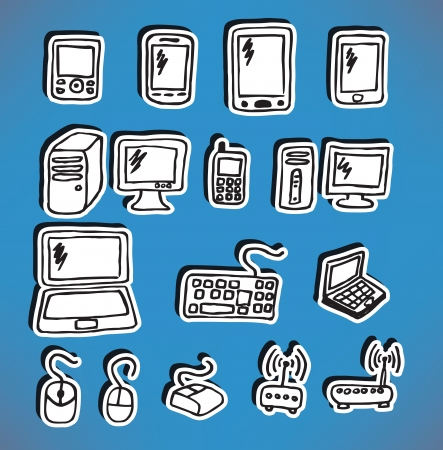 Icons - electronics Vector