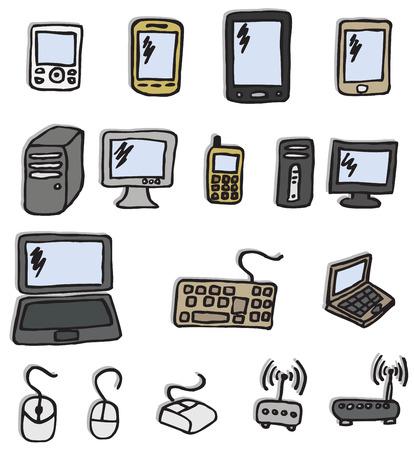 Icons - electronics Vector