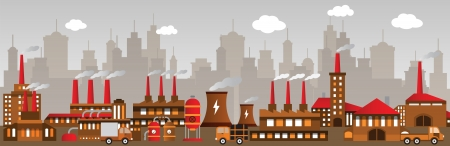 Factory in the city Stock Vector - 22973431
