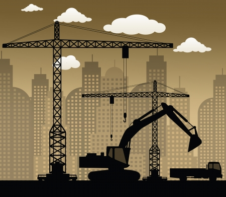 heavy machinery: Making the new building