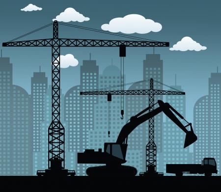 camion grua: Hacer que el nuevo edificio