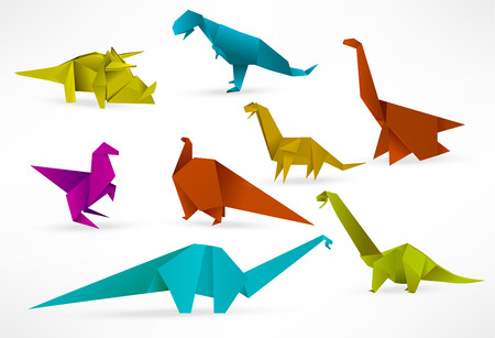 Origami dinosaurs Stock Vector - 22973446