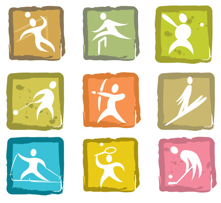 Summer and winter games icon set number 3 Vector