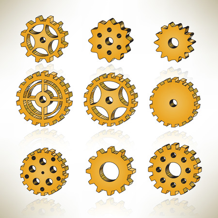 3D tooth wheels