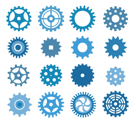 sprocket: Simple vector tooth wheels  blue