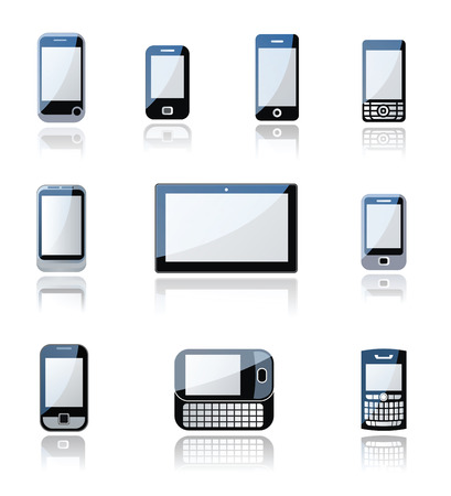 Mobile phone and tablet icons Vector