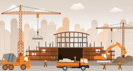 Rendre le nouveau centre commercial de construction Banque d'images - 23283500