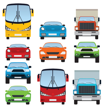 autobus: Cars collection Illustration