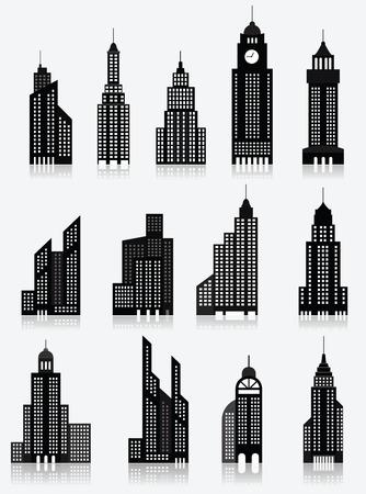 headquarter: Skyscrapper icons