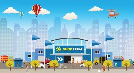 Shopping dans la ville Banque d'images - 23833342