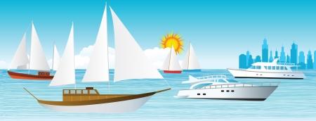 Zee en boten