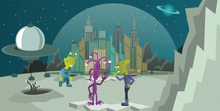 Aliens from another planet Vector