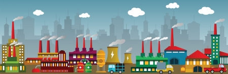 Factory in the city Stock Vector - 24211308