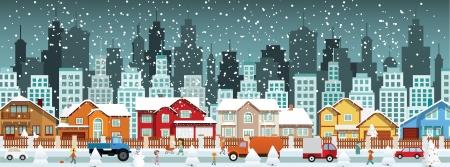冬クリスマス市  イラスト・ベクター素材