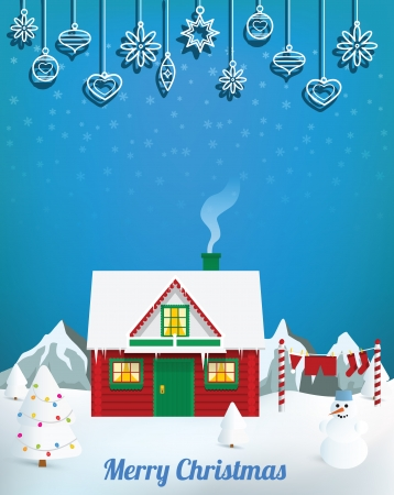 Santa�s house Stock Vector - 24211310