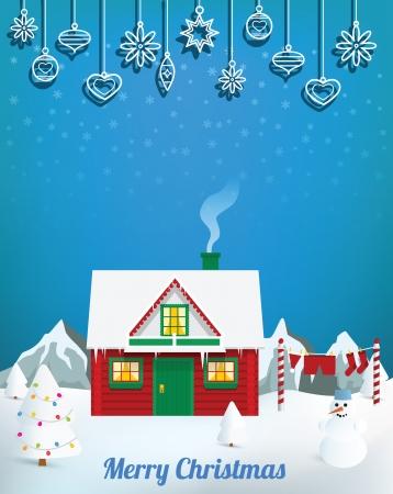 Santa�s house Stock Vector - 24211310