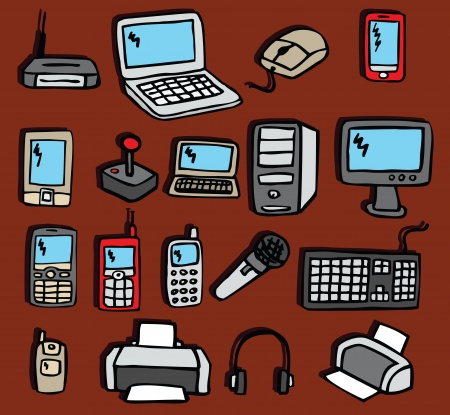 Icons - Electronics equipments Vector