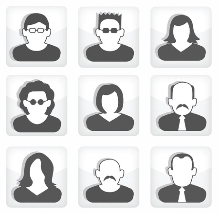 People buttons  social icons  Illustration
