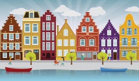 European city illustration Illustration