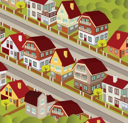 bird eye view: City in perspective