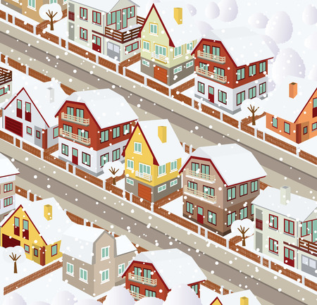 row houses: City in perspective