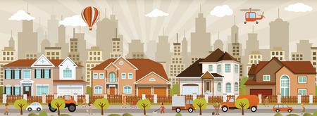 suburban street: City life